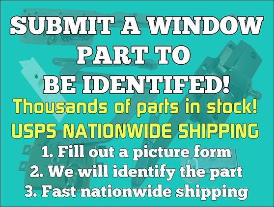 Window Hardware Parts for a  Northeast Building Products Window